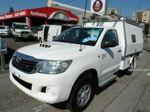 2011 Toyota Hilux KUN26R MY11 Upgrade SR (4x4) White 5 Speed Manual Cab Chassis Rockdale Rockdale Area Preview