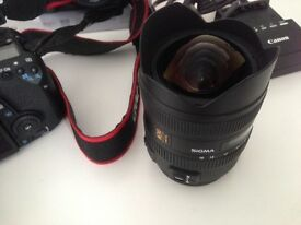 ***Now REDUCED Sigma EX 8-16mm F/4.5-5.6 HSM DC Lens Canon Bargain