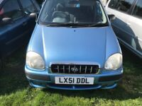 HYUNDAI AMICA 999cc VERY GOOD CONDITION 69000 MILES ONE YEAR MOT DRIVES PERFECT NO FAULTS