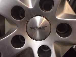 """Set of four Michelin 18"""" Snow tires on Fast Alloy rims Kitchener / Waterloo Kitchener Area image 3"""