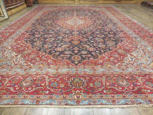 C1940 Antiquekashan Persian Naein Nain Kashann Design 9.3x13.8 Estate Sale Rug