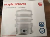 White 3 Tier Steamer - Morphy Richards