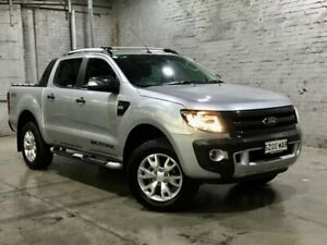 2014 Ford Ranger PX Wildtrak Double Cab Silver 6 Speed Manual Utility