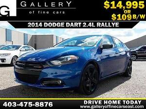 2014 Dodge Dart SXT Rallye $109 bi-weekly APPLY NOW DRIVE NOW
