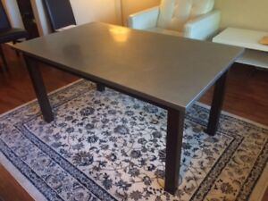 High-End Metal & Wood Dining Table