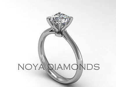 0.94 CARAT E SI2 GIA CERTIFIED SOLITAIRE DIAMOND ENGAGEMENT RING 18K WHITE GOLD
