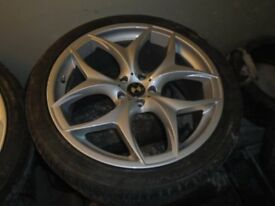 """22"""" ALLOY WHEELS WITH TYRES TO FIT X5/x6/RANGE ROVER £800ono"""