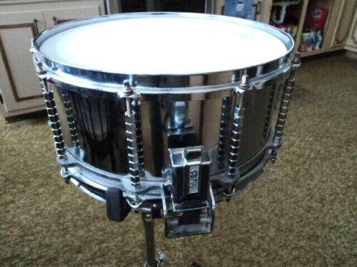 "CB-700 6.5"" X 14"" ""Free Floating"" Snare Drum Steel MIJ Rare!"
