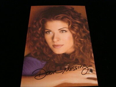 Autographed Debra Messing Signed Photo 5  X 7