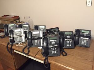 Business Phone System with 9 Handsets