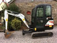 1.5 ton Mini Digger required & 50kg Vibrating plate