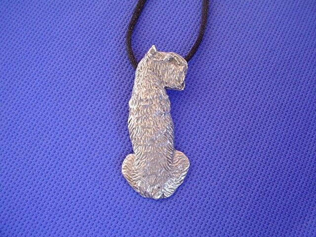 Bouvier des Flandres necklace SIT #43G Pewter Dog Jewelry by Cindy A. Conter