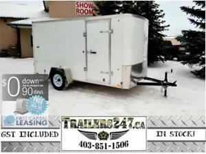 "6X12FT CARGO TRAILER- 3/8"" DRYMAX WALLS/ RADIALS/ TUBE FRAME"