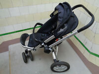Black Quinny Buzz push chair & rain cover £49