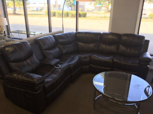 BRAND NEW LEATH-AIR RECLINING SECTIONAL (LIMITED STOCK)