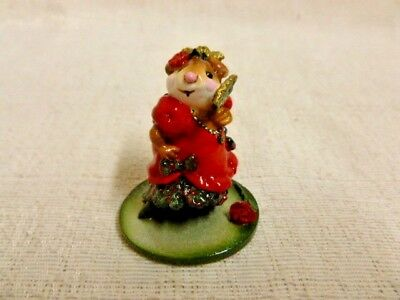 Wee Forest Folk Carmen Special Edition M-258 Red Dress Mouse Retired