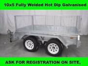 10x5 FULLY WELDED TANDEM HOT DIP GALVANISED TRAILERS 2000 KG GVM Dandenong South Greater Dandenong Preview