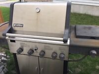 KENMORE STAINLESS GAS BBQ - 8 YEARS OLD