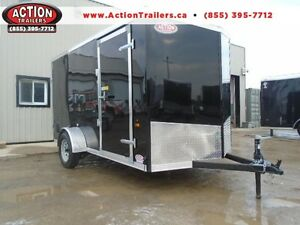 2018 ENCLOSED TRAILER, 6 X 12, BARN DOORS, V-NOSE