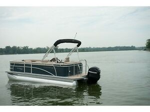 2012 Pontoon boat 115hp 4 stroke with trailer and full enclosure
