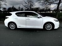 2013 13'reg Lexus CT 200h CVT S 1.8**Top Colour Pearlescent White*59,000 miles**