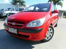 2007 Hyundai Getz TB MY07 SX Red 5 Speed Manual Hatchback Buderim Maroochydore Area Preview
