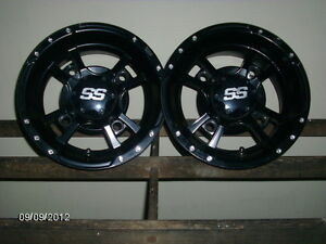 SET OF 4 BLACK SS RIMS  STOLEN FROM MY PORTABLE GARAGE