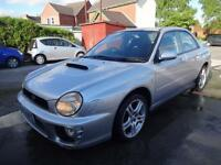 SUBARU IMPREZA 2.0 TURBO WRX~52/2002~MANUAL~4 DOOR SALOON~SILVER~JUST 78k !!!!