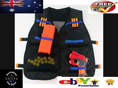 Vest Toy Gun Bullets Darts Round Head NERF N-Strike Blasters Blue Nurf Refills