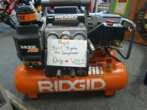 RIDGID 14.5 Amp Electric 5 gallon Portable Tri-Stack Air Compressor