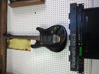 module roland GR-50+guitare Ibanez GK-2+pédale Roland FC-100