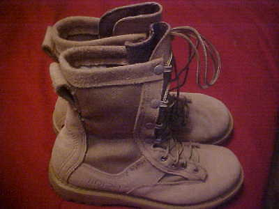 ROCKY, MILITARY DESERT TAN BOOTS, 5 .5 WIDE, GORE-TEX, USED IN GREAT SHAPE.
