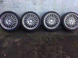 SSW alloy wheels with tyres