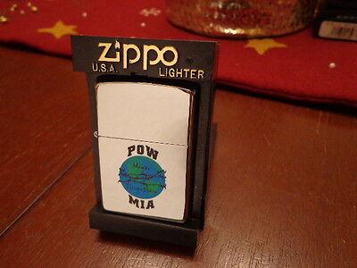 Mia High Polish (POW MIA NEVER FORGOTTEN HIGH POLISH CHROME ZIPPO LIGHTER MINT IN)