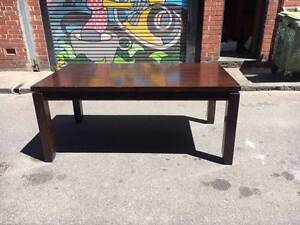 Solid Hardwood Dining Table North Melbourne Melbourne City Preview