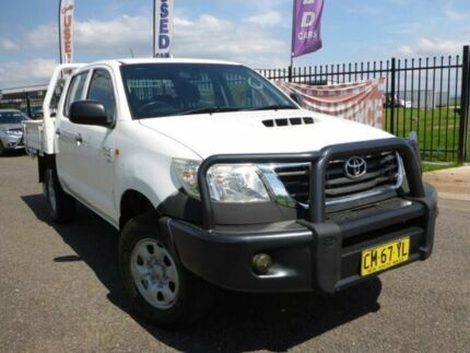 2012 Toyota Hilux KUN26R MY12 SR Double Cab White 5 Speed Manual Cab Chassis Singleton Singleton Area Preview