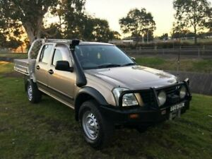 2004 Holden Rodeo RA LX (4x4) Gold 5 Speed Manual Crew Cab Chassis Mayfield East Newcastle Area Preview