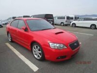 2005 05 Red Subaru Legacy Blitzen Limited Edition Twin Turbo 280 bhp