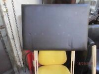 *+*SINGLE ( 3 feet wide )BROWN FAUX LEATHER HEADBOARD/GOOD CONDITION/delivery available*+*