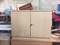 Small wooden cupboard / lockable with key