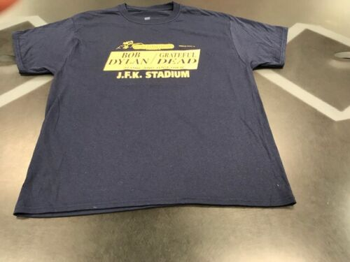 Bob Dylan / Grateful Dead- T Shirt-sz XL-color Blue-JFK Stadium PHL-July 10,1987