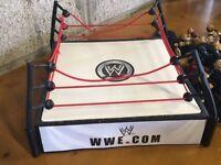 WWE wrestling ring and wrestler figures