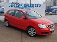 VOLKSWAGEN POLO 1.6 SPORT 3d 103 BHP 11 SERVICE STAMPS (red) 2007