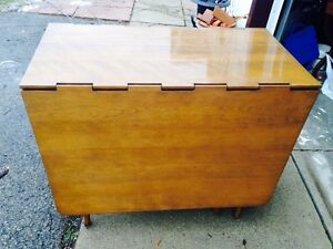 1960's Walnut Gate Leg Table.