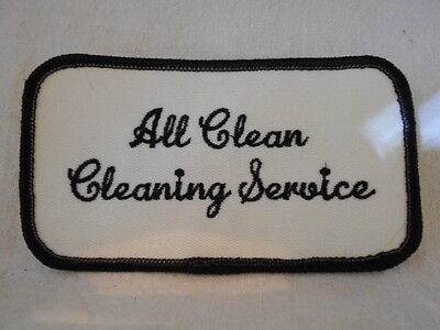 ALL CLEAN CLEANING SERVICE USED SEW ON NAME PATCH  TAG