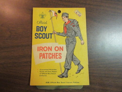 Official Boy Scout Iron On Patches, 1950-60