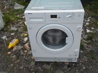 RE-FURBISHED BEKO WMI71641, 7 KG,1600 SPIN, A+ RATED INTEGRATED WASHING MACHINE IN WHITE RRP £379