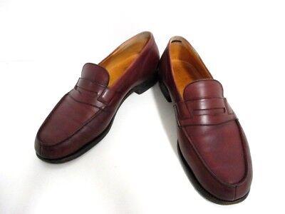 Auth J.M. WESTON Bordeaux Leather Shoes Men