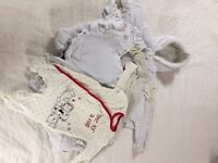 Baby clothes - white - sized upto 4.1kg/9lbs