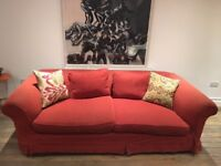 Red Sofa Very Comfortable Large 3 or 4 seat Bargain!!
